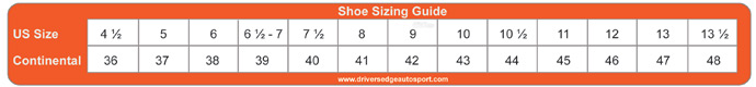 shoe sizing guide
